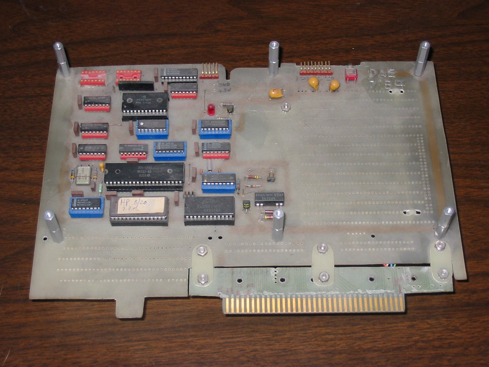 Printer Board For 1610 Hp Logic Analyzer Block Diagram 6502