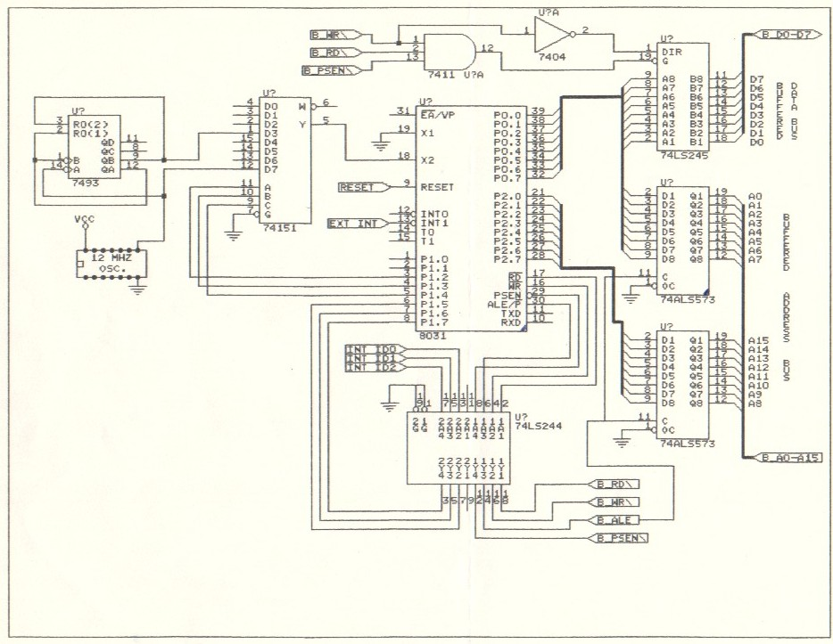schematic 8051 development board  u2013 the wiring diagram