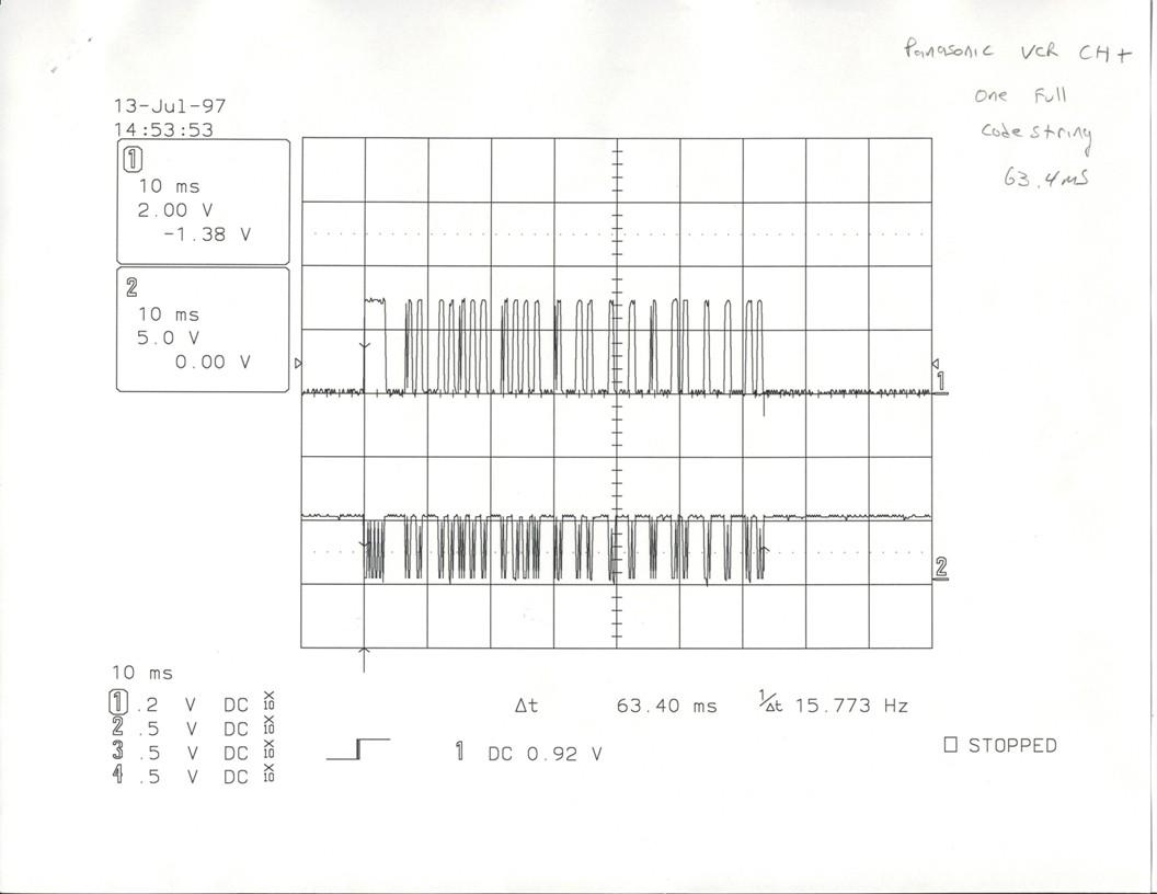 Infrared Projects Based Circuits Panasonic Ir Signal
